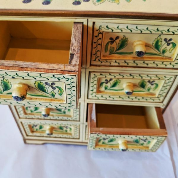 8 Drawer Hand Painted Chest