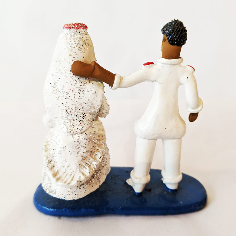 Bride and Groom Clay Figure