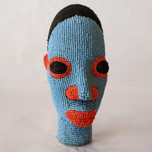 Cameroon Beaded Head Sculpture