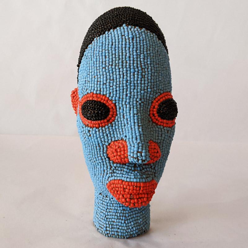 Cameroon Beaded Head Sculpture
