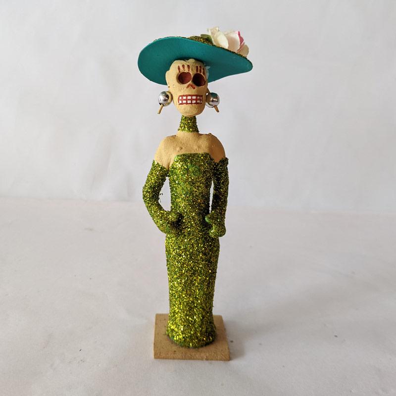 Elegant Lady Clay Figure