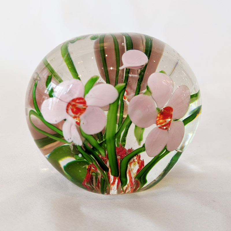 Flower Garden Glass Paperweight