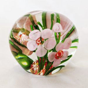 Flower Garden Glass Paperweight 2