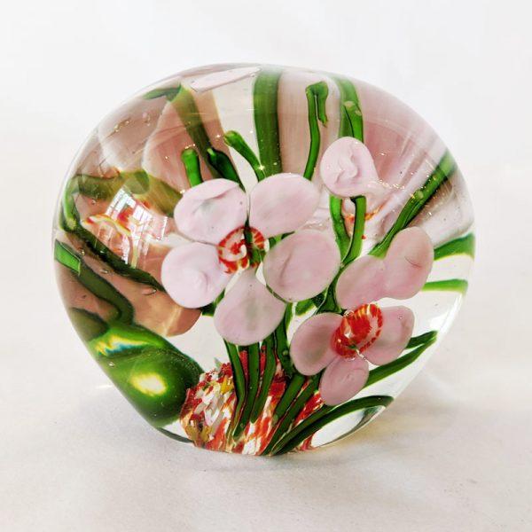 Flower Garden Glass Paperweight 2