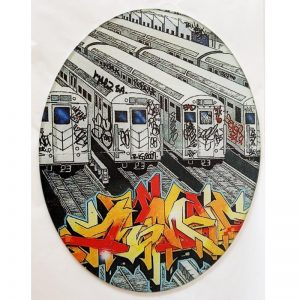 Glass Cutting Board - Graffiti