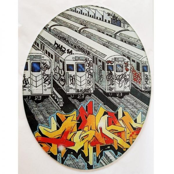 Glass Cutting Board - Graffiti