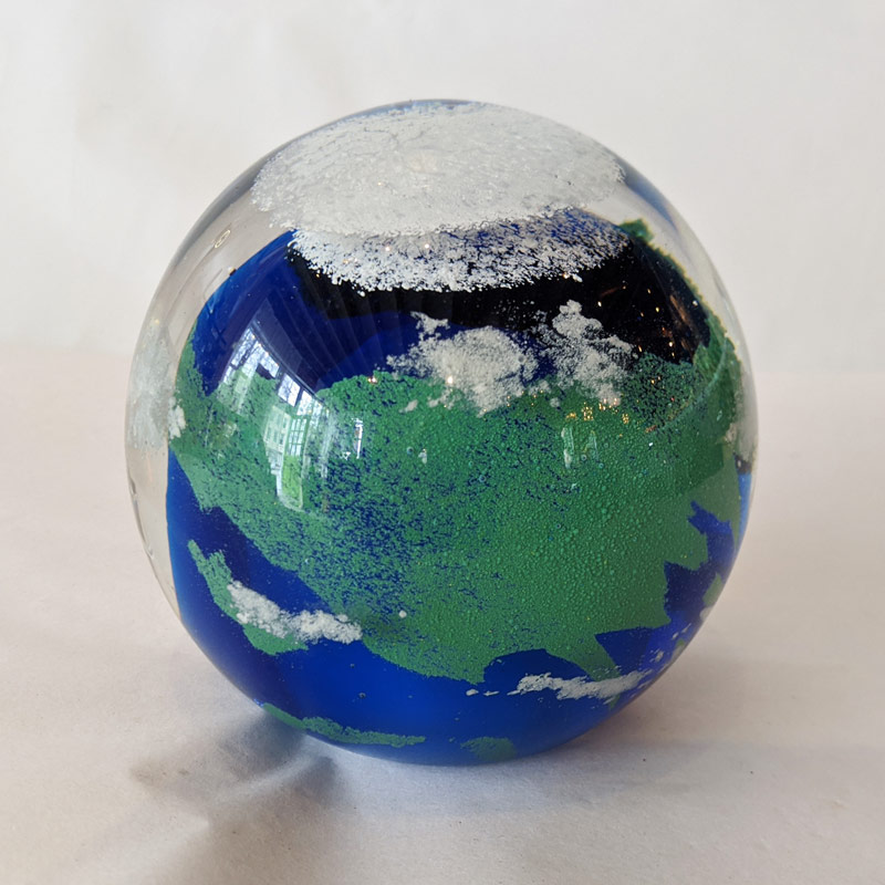 Globe Glass Paperweight