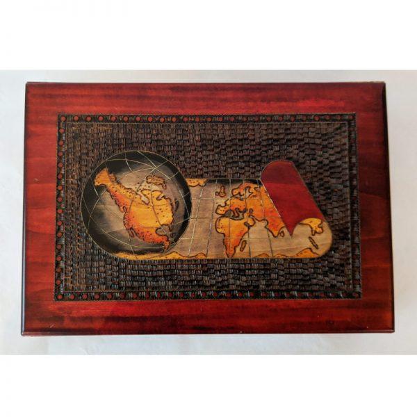Map Wood Box