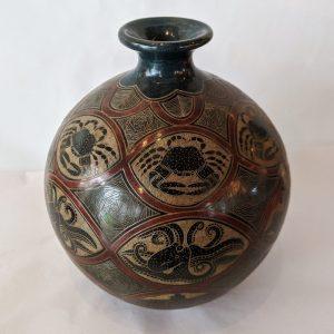 Nicaraguan Ceramic Vessel - Crabs and Octopus