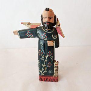 Saint Francis Wooden Figure