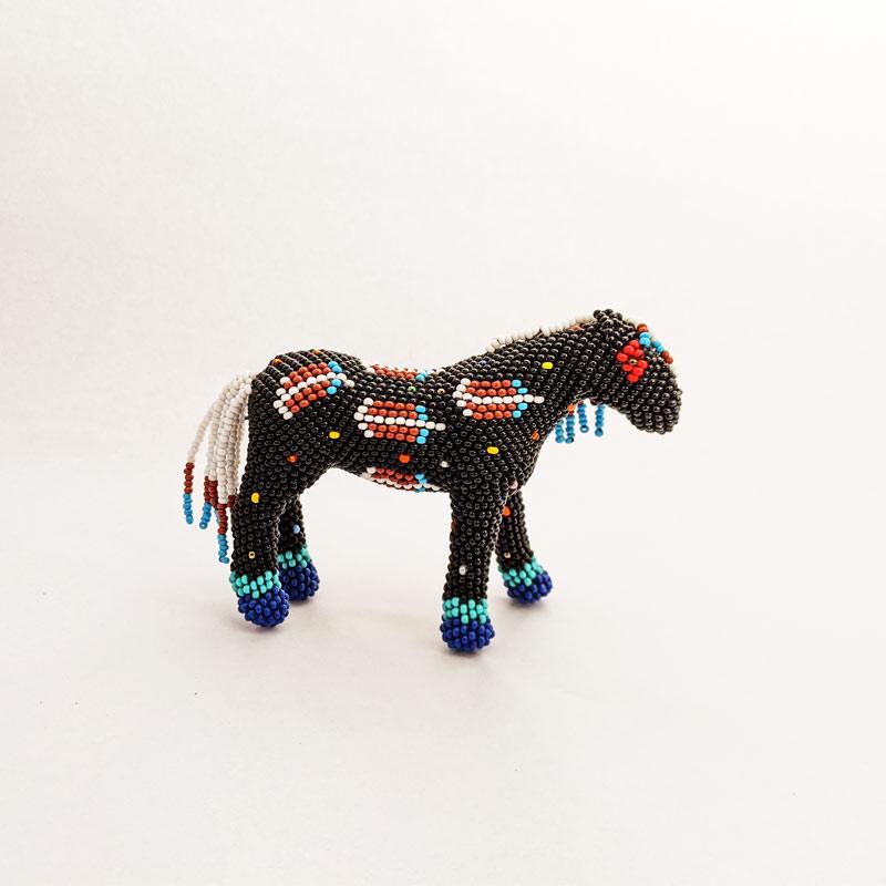 Black Beaded Horse