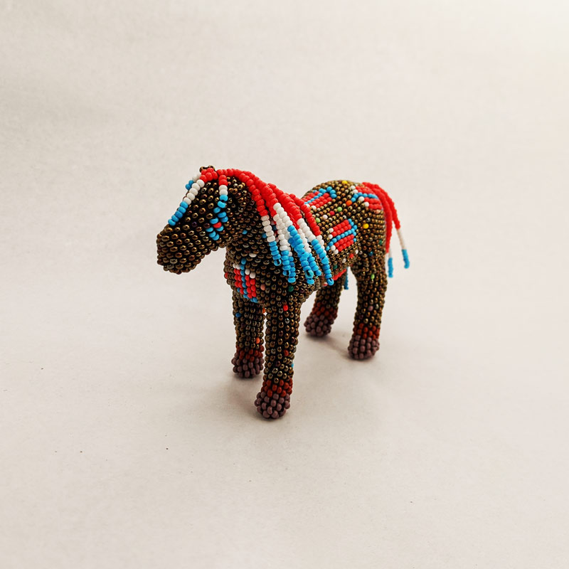 Brown Beaded Horse