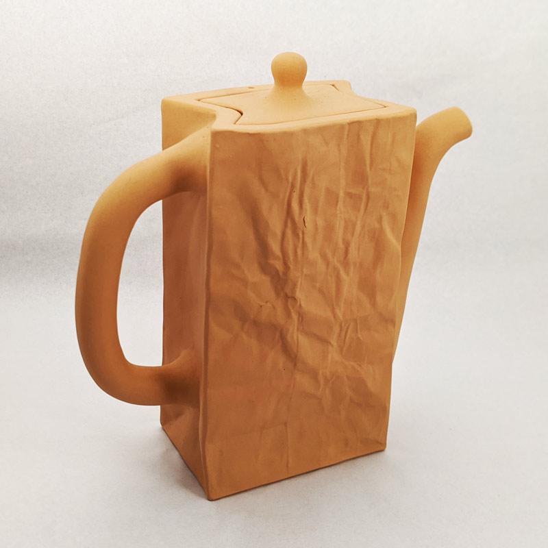 Brown Paper Bag Ceramic Teapot