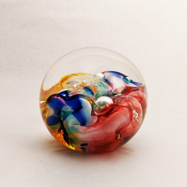 Color Swirls Glass Paperweight