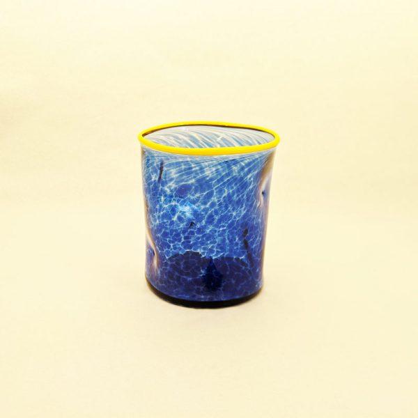 DOF Glass Transp Cobalt and Yellow