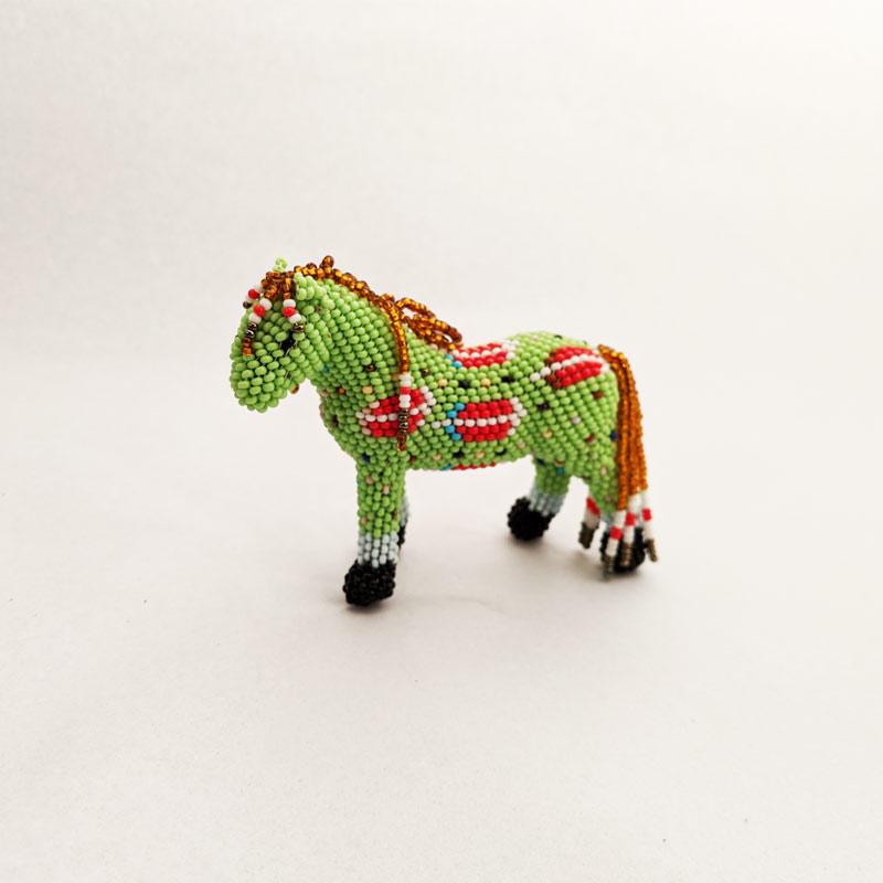 Green Beaded Horse