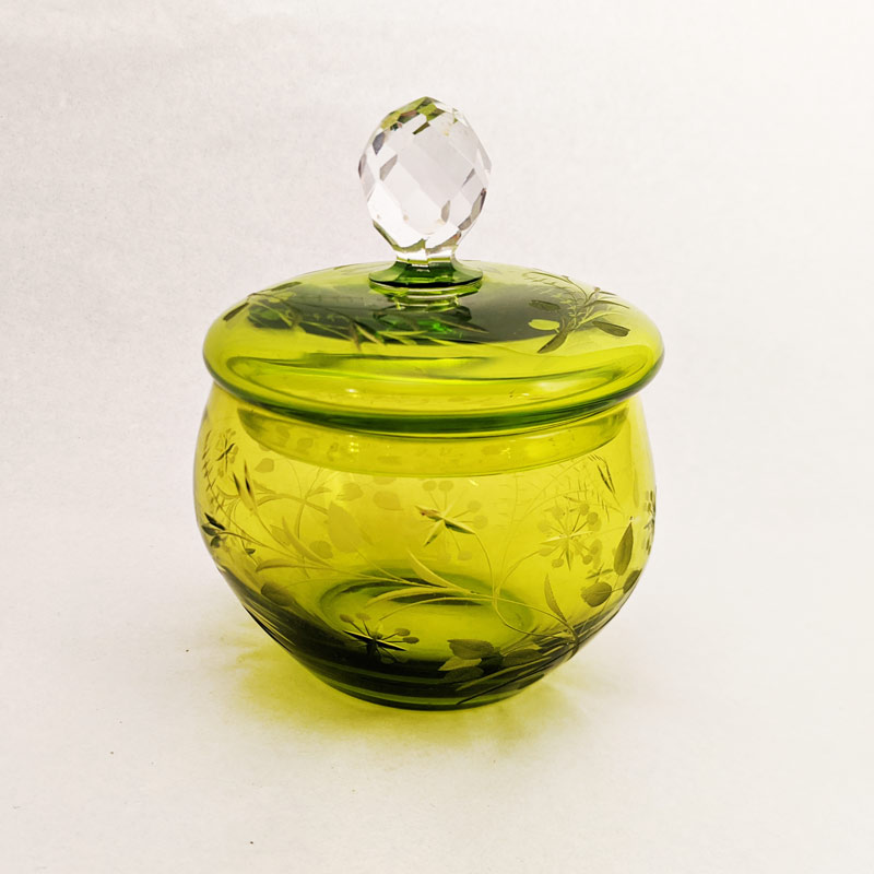Green Glass Jar