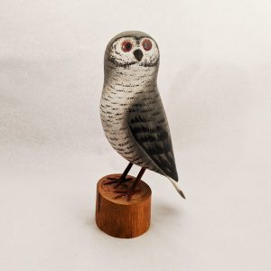 Hand Carved Wooden Snowy Owl
