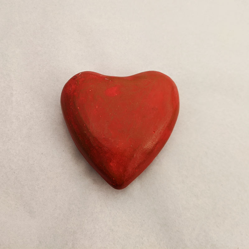 Hand Painted Clay Heart