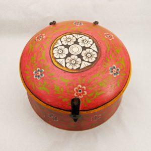 India Round Wooden Box