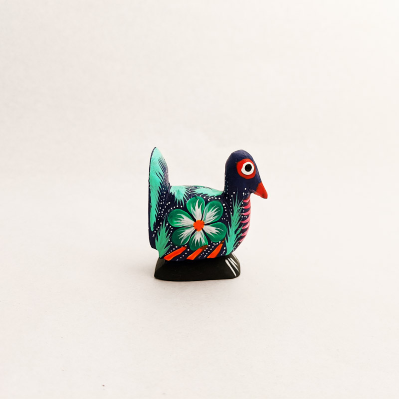 Mini Wooden Peacock