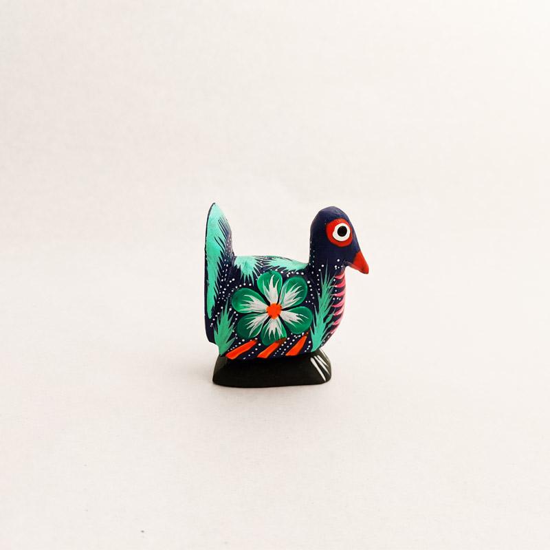 Mini Wooden Peacock