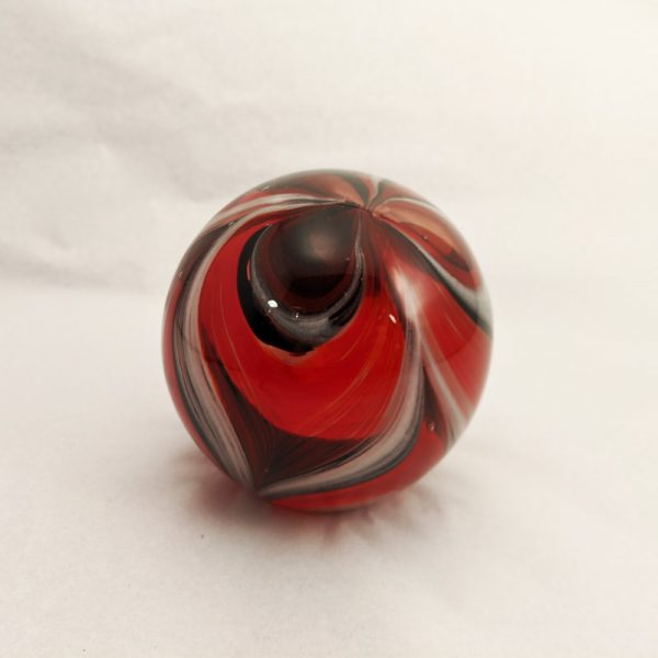Red and Black Feathers Paperweight