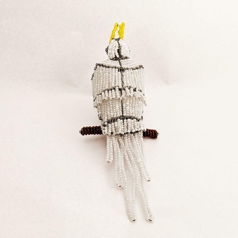 White Beaded Parrot