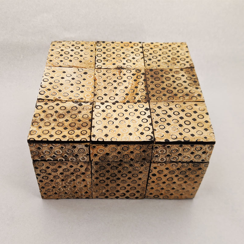 Wood Squares Box