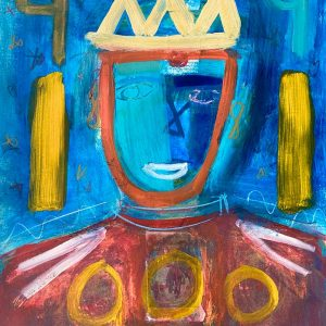 King 7 - 18 x 24 - Mixed Media on Paper