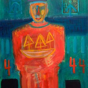 Seek - 60 x 30 - Mixed Media on Canvas
