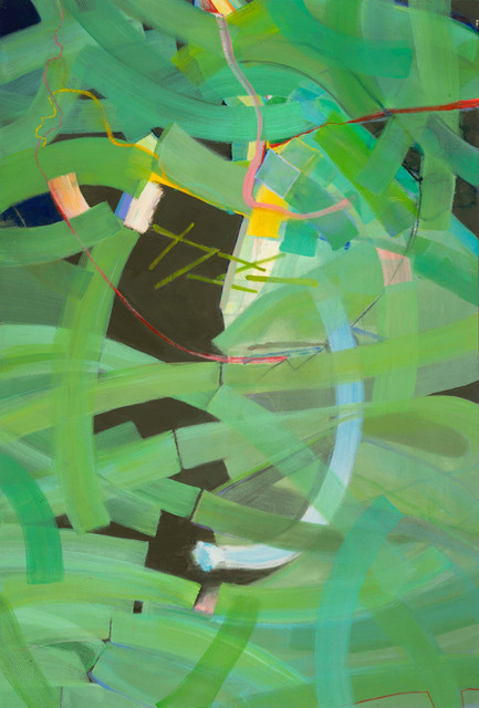 Splendor in the Grass - 62 x 42 - Acrylic and Pastel on Canvas