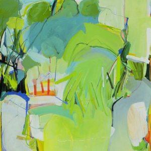 Waterhole 4 - 62 x 54 Acrylic on Canvas