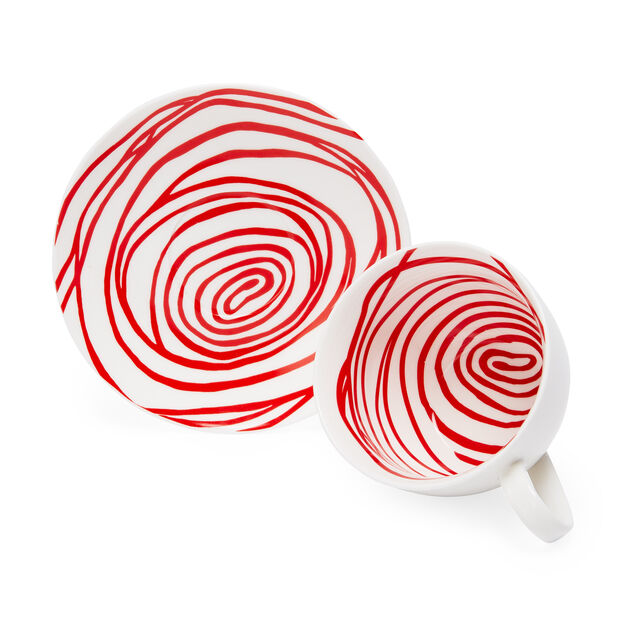 LB Spiral Teacups Red
