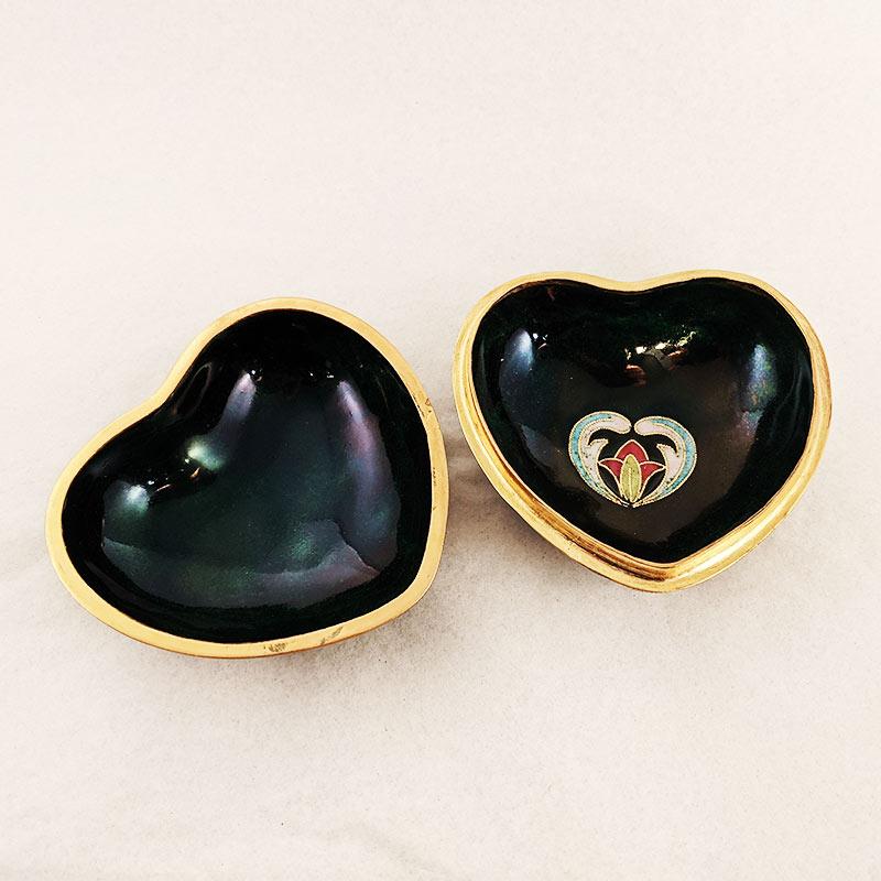 Enameled Heart Box