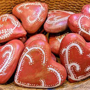 Peruvian Ceramic Hearts