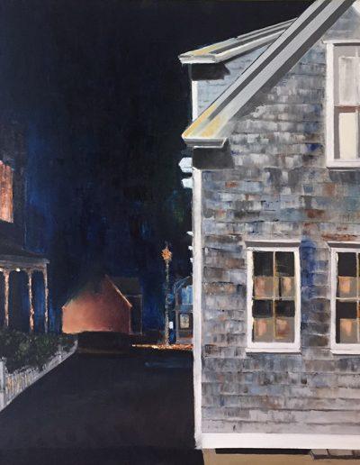 """Around Midnight - 30"""" x 30"""" - Oil on Canvas"""