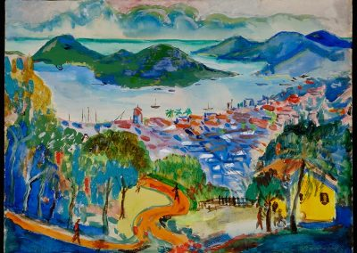 "Côte d'Azur, 1950 - 30"" x 40"" - Watercolors on Paper"