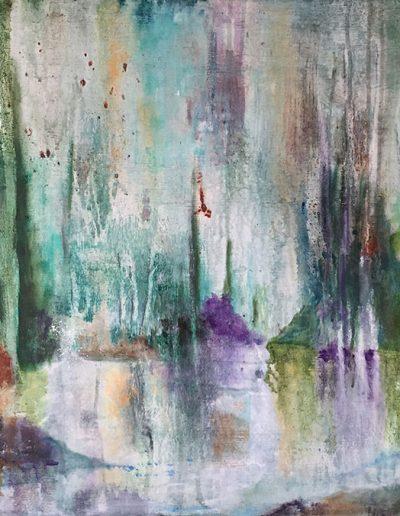 "Morning Mist - 30"" x 25"" - Mixed Media on Canvas"