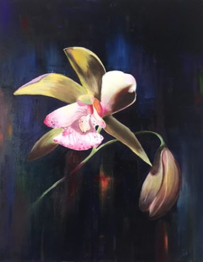 """Orchid - 28"""" x 22"""" - Oil on Canvas"""