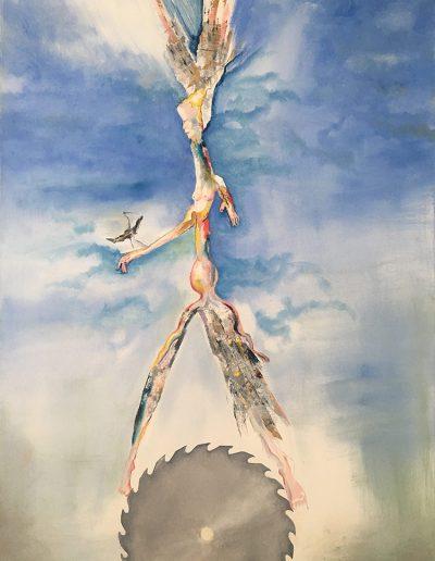 Precipice - 46 x 50 - Oil on Canvas