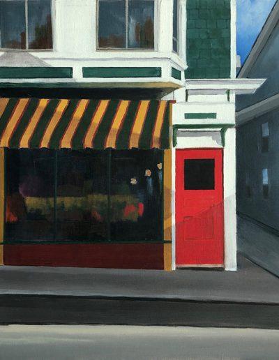 Red Door - 18 x 18 - Oil on Canvas