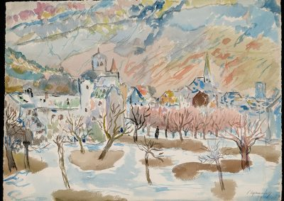 "Rhone Valley, 1944 - 30"" x 40"" - Watercolors on Paper"