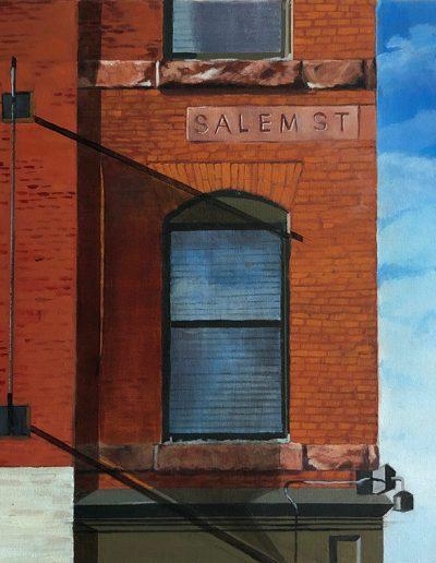 "Salem Street - 18"" x 18' - Oil on Canvas"