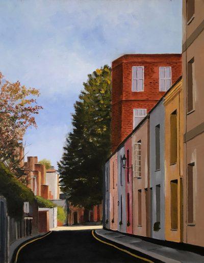 "Stewart's Grove, Kensington, London - 20"" x 24"" - Oil on Canvas"