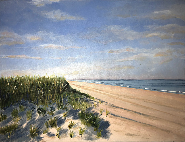 """Two Mile Hollow, East Hampton - 20"""" x 14"""" - Oil on Canvas"""