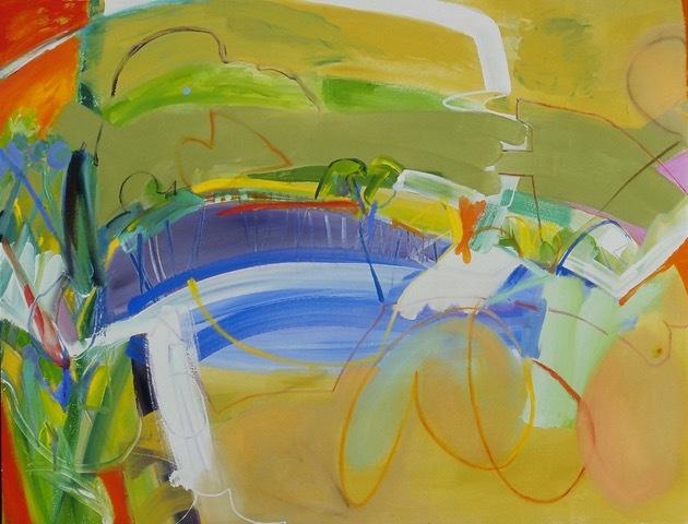 Waterhole 15 - 44 x 56 Acrylic on Canvas