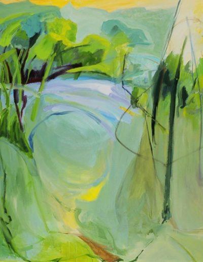 Waterhole 6 - 60 x 54 - Acrylic on Canvas