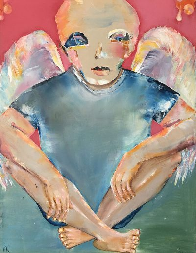 World Angel - 16 x 20 - Oil on Canvas