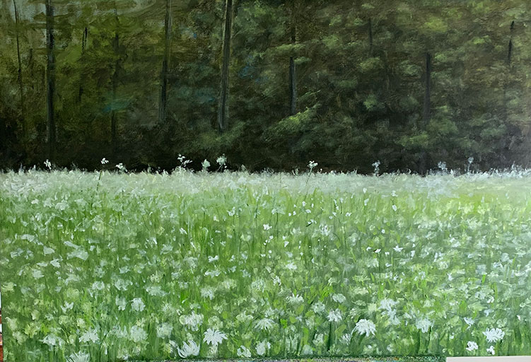 Field of White - 24 x 36 - Oil on Canvas